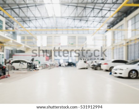 car repair service centre interior blurred stock photo 531912994 shutterstock. Black Bedroom Furniture Sets. Home Design Ideas