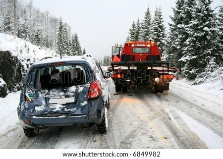 Car rescue - stock photo