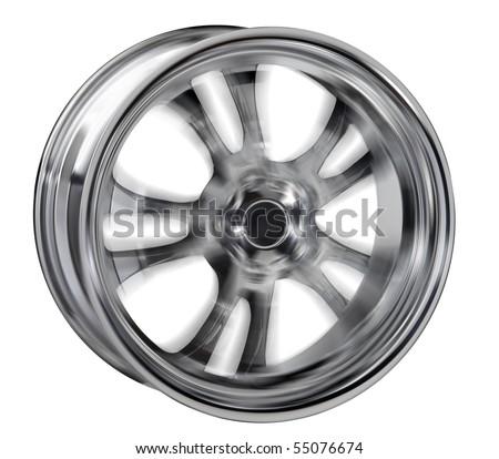 Car rim - stock photo