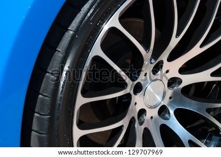 car rim and wheel - stock photo
