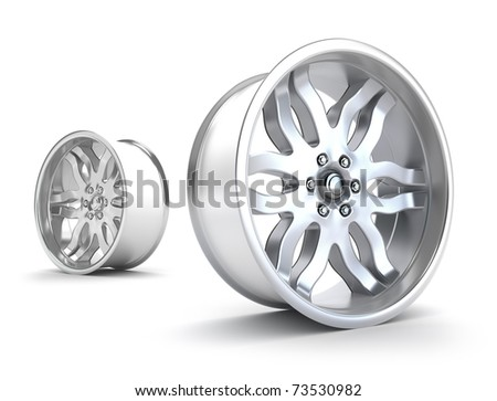 Car rims concept. Isolated on white - stock photo