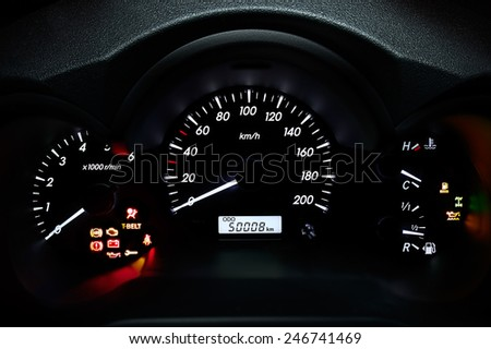 Car's dashboard - stock photo
