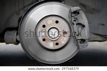 Car service, brake disc and pads