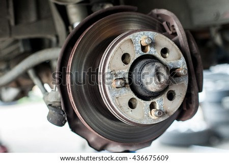 Car service fix disc brake factory industry