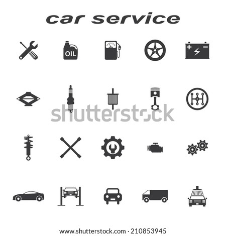 car service icons  set - stock photo