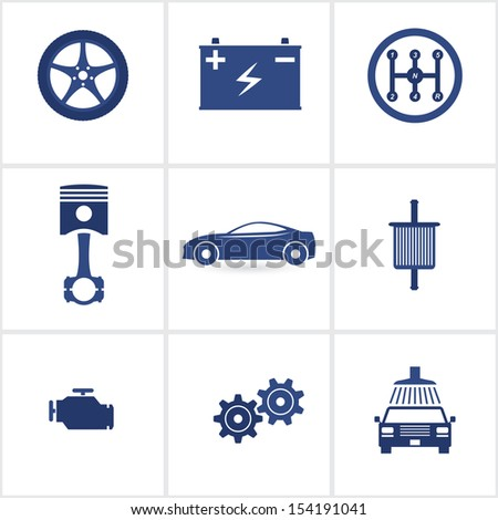 car service icons set 2.(rasterized version) - stock photo