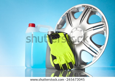 car service items - stock photo