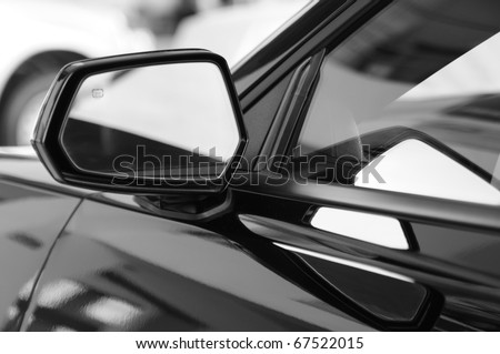 Car side mirror.