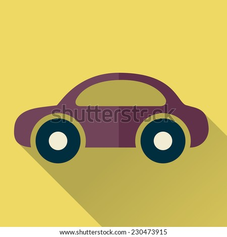 Car. Single flat icon. Raster version - stock photo