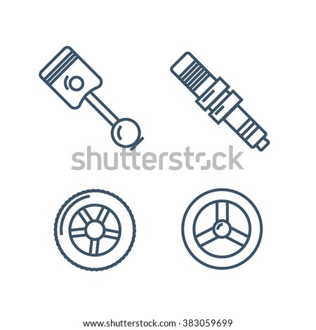 Car spare parts - stock photo