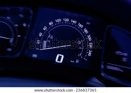 car speed board - stock photo