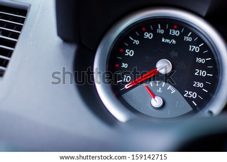 Car speed clock