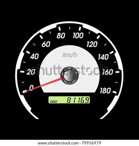car speedometers for racing design. - stock photo