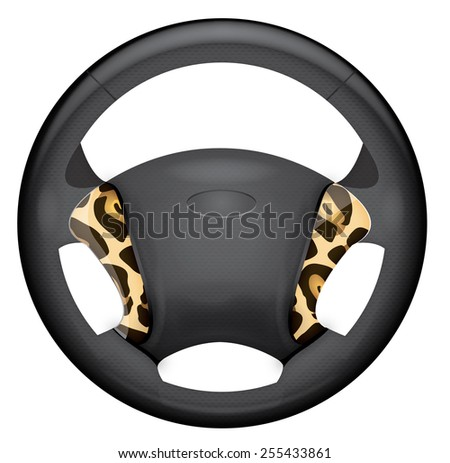 Car steering wheel.