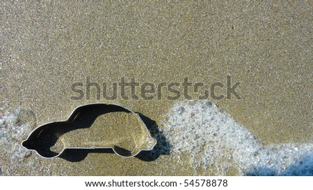 car tail pipe with exhaust - stock photo