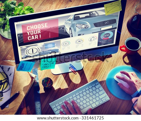 Car Technology Transportation Motor Engine Concept - stock photo