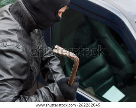 car theft - stock photo