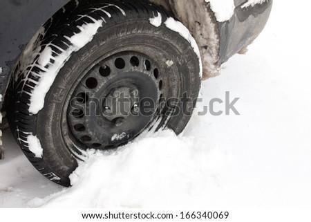 car tieres - stock photo