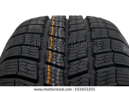 Car tire detail closeup - stock photo