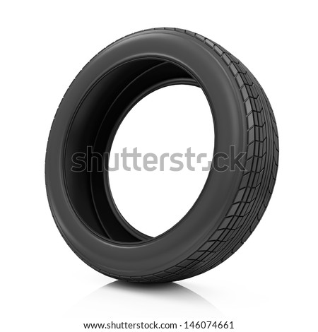 Car Tire Icon isolated on white background