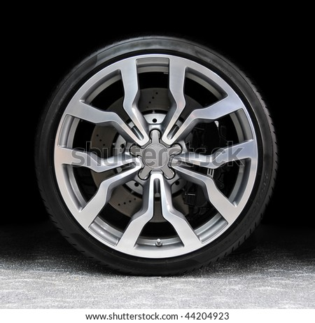 Car tire - ready for advertisement - stock photo
