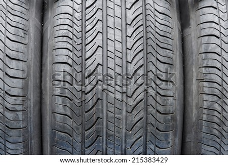 car tires texture for background. - stock photo