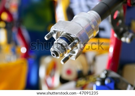 Car transmission macro detail - stock photo