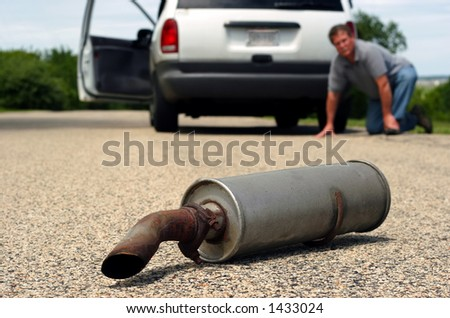 Car trouble series 1 - stock photo