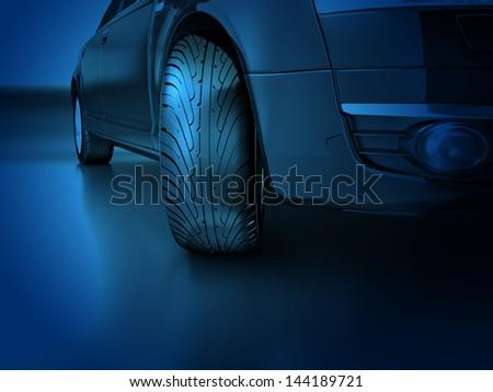 Car tyre - stock photo