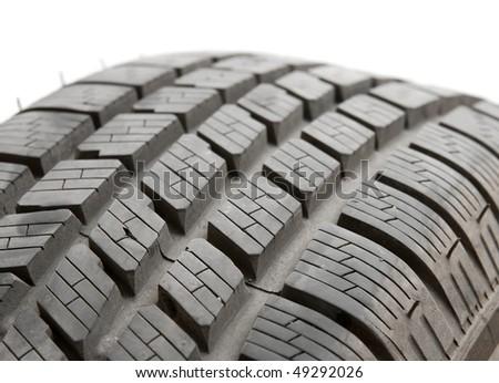 Car tyre detail closeup - stock photo
