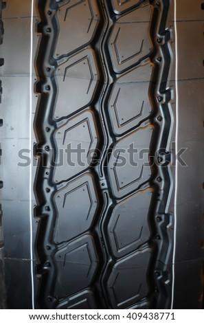 Car tyres close up - stock photo