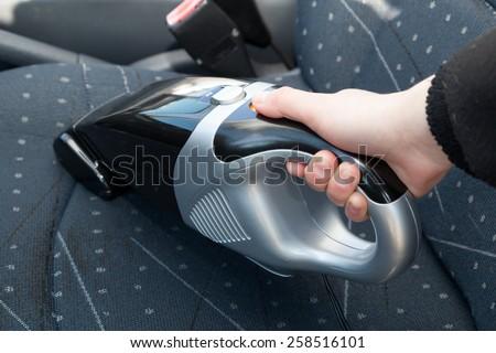 Car vacuum cleaner - stock photo