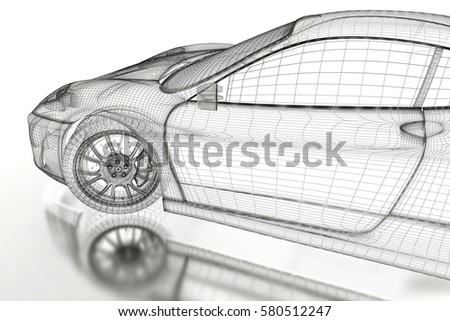 Car vehicle 3d blueprint mesh model stock illustration 580512247 car vehicle 3d blueprint mesh model on a white background 3d rendered image malvernweather Gallery