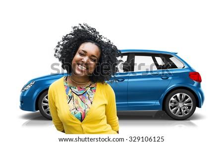 Car Vehicle Hatchback Transportation 3D Illustration Concept - stock photo