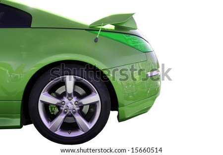 Car view from lateral. isolated - stock photo