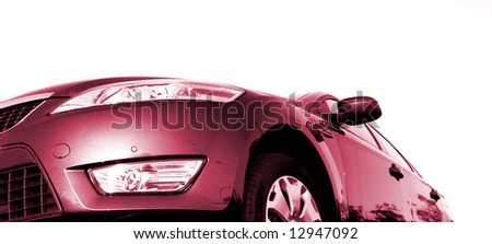 Car view from the front. isolated - stock photo