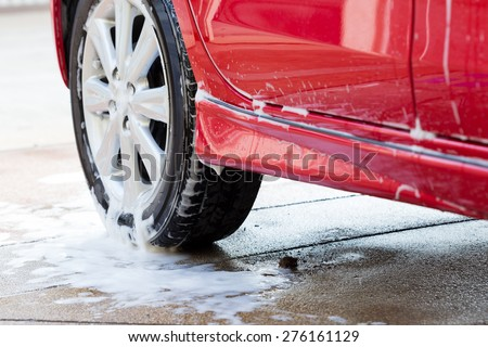 car wash with soap, car cleaning service