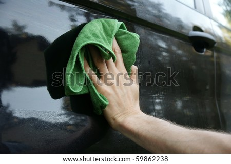 car washing - stock photo