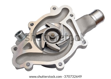 Car water pump, isolated on a white background - stock photo