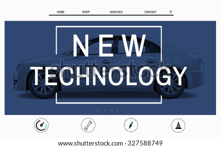 Car Website Homepage Layout Advertising Concept - stock photo