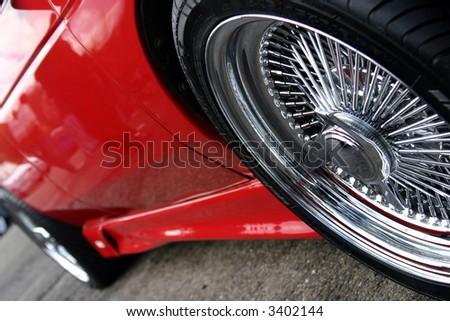 car wheel - stock photo