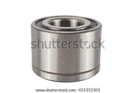 car  wheel bearing car isolated on white background. Single new bearing to the vehicle on a white background - stock photo
