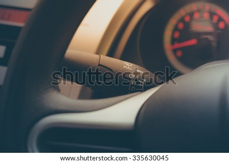 car wheel with vintage color tone - stock photo