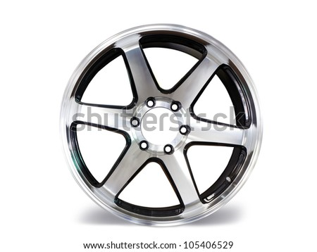Car wheels on white