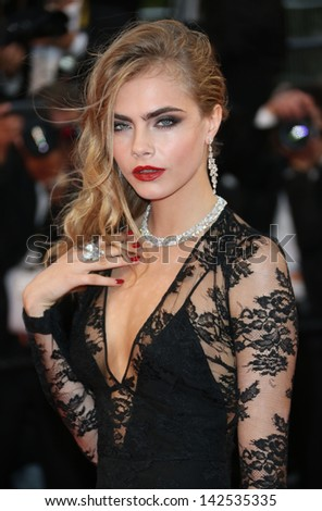 Cara Delevingne at the 66th Cannes Film Festival - Opening ceremony and Great Gatsby premiere, Cannes, France. 15/05/2013 - stock photo