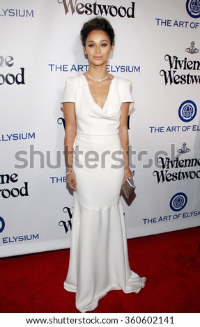 Cara Santana at the Art Of Elysium's 9th Annual Heaven Gala held at the 3LABS in Culver City, USA on January 9, 2016.