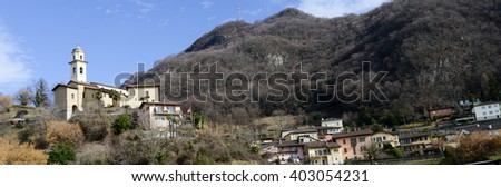Carabbia (Lugano), 19 february 2016: the rural village of Carabbia part of the city of Lugano on the italian part of Switzerland