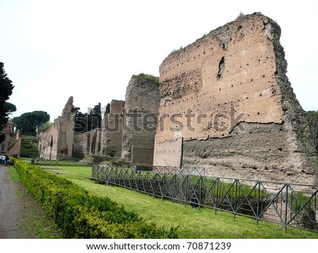 Caracalla Baths in Rome, Italy - stock photo