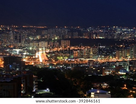 CARACAS CITY OF EXPOSURE LONG AT NIGHT