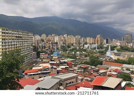 Caracas skyline. Caracas, Capital of Venezuela - stock photo